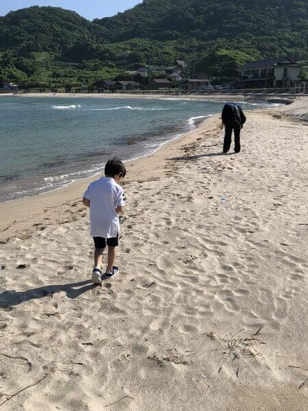 小波海水浴場 散歩