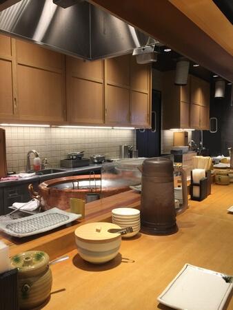 天ぷら定食まきの 店内